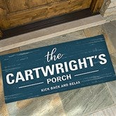 Farmhouse Family Welcome Personalized Oversized Doormat- 24x48 - 21167-O