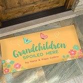 Grandchildren Spoiled Here Personalized Oversized Doormat- 24x48 - 21170-O