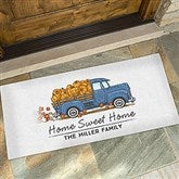Classic Fall Vintage Truck Personalized Doormat- 24x48 - 21171-O