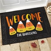 Candy Corn Family Personalized Doormat- 18x27 - 21172