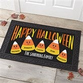 Candy Corn Family Personalized Doormat- 20x35 - 21172-M