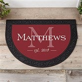 Family Name Personalized Half Round Doormat - 21174