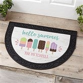 Summer Popsicle Personalized Half Round Doormat - 21175
