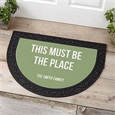 Expressions Personalized Half Round Doormat - 21178