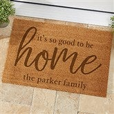 So Good To Be Home Typography Personalized Coir Doormat - 18x27 - 21180