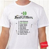 Top 10 Golfers© White Adult T-Shirt - 2120T