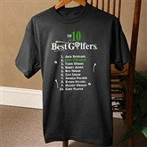Top 10 Golfers© Black Adult T-Shirt - 2120BT