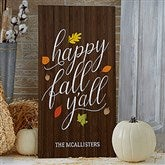 Happy Fall Y'All Personalized Standing Wood Sign - 21200