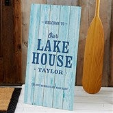 Home Away From Home Personalized Standing Wood Sign - 21202