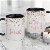 Sparkling Name Personalized Coffee Mug 11 oz.- Black - 21248-B