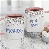 Sparking Name Personalized Coffee Mug 11 oz.- Pink - 21248-P