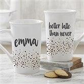 Sparkling Name Personalized Latte Mug 16 oz.- White - 21248-U