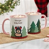 Holiday Bear Family Personalized Coffee Mug 11 oz.- Pink - 21263-P