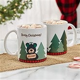 Holiday Bear Family Personalized Coffee Mug 11 oz.- White - 21263-S