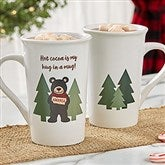 Holiday Bear Family Personalized Coffee Mug 16 oz.- White - 21263-U