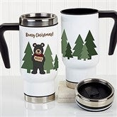 Holiday Bear Family Personalized Commuter Travel Mug - 21264