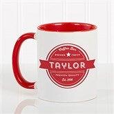 Coffee House Personalized Coffee Mug 11 oz.- Red - 21292-R