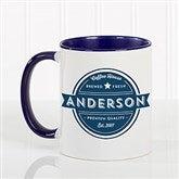 Coffee House Personalized Coffee Mug 11 oz.- Blue - 21292-BL
