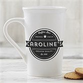 Coffee House Personalized Latte Mug 16 oz.- White - 21292-U