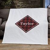 Cozy Cabin Personalized Buffalo Check 50x60 Sweatshirt Blanket - 21303-SW