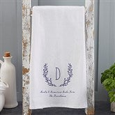 Farmhouse Floral Personalized Tea Towel - 21362