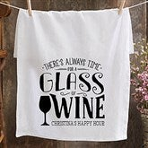There's Always Time... Personalized Bar Towel - 21367-Q1