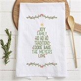 Christmas Family Tree Personalized Tea Towel - 21368