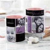 My Favorite Faces For Her Photo Coffee Mug 11oz.- Pink - 21370-P
