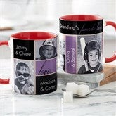 My Favorite Faces For Her Photo  Coffee Mug 11oz.- Red - 21370-R