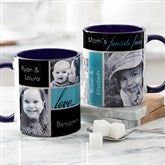 My Favorite Faces For Her Photo Coffee Mug 11oz.- Blue - 21370-BL