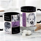 My Favorite Faces For Her Photo Coffee Mug 11oz.- Black - 21370-B
