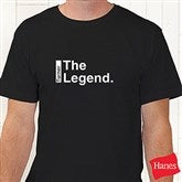 The Legend Continues Personalized Hanes® Adult T-Shirt - 21381AT