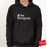 The Legend Continues Personalized Adult Black Hooded Sweatshirt - 21381S