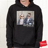 Photo Personalized Black Hooded Sweatshirt - 21382-BHS