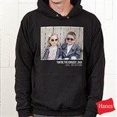 Photo Personalized Black Hooded Sweatshirt - 21382-BHS