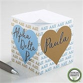 Alpha Delta Pi Personalized Paper Note Cube - 21400