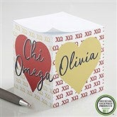 Chi Omega Personalized Paper Note Cube - 21401