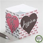 Gamma Phi Beta Personalized Paper Note Cube - 21405