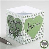 Kappa Delta Personalized Paper Note Cube - 21409