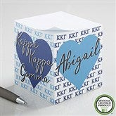 Kappa Kappa Gamma Personalized Paper Note Cube - 21410