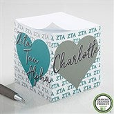 Zeta Tau Alpha Personalized Paper Note Cube - 21412