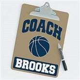 Basketball Personalized Coach Clipboard - 21420