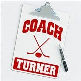 Hockey Personalized Coach Clipboard - 21422