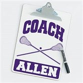 Lacrosse Personalized Coach Clipboard - 21425