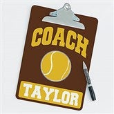 Tennis Personalized Coach Clipboard - 21427