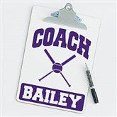 Softball Personalized Coach Clipboard - 21428