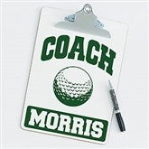 Golf Personalized Coach Clipboard - 21429