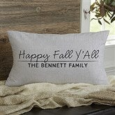 Classic Fall Vintage Truck Personalized Lumbar Throw Pillow - 21438-LB
