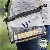 Delta Gamma Personalized Clear Stadium Purse - 21444