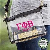 Gamma Phi Beta Personalized Clear Stadium Purse - 21446